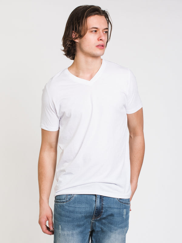 MENS VICTOR VNECK T-SHIRT- WHITE