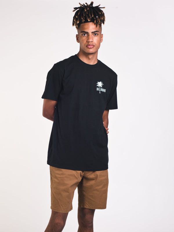 MENS SOLEIL SHORT SLEEVE T-SHIRT- BLACK
