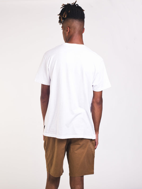 MENS TEAM WAVE SHORT SLEEVE T-SHIRT - WHITE