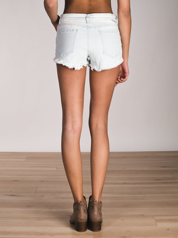 WOMENS BUTTONED UP SHORT - BLEACHED- CLEARANCE