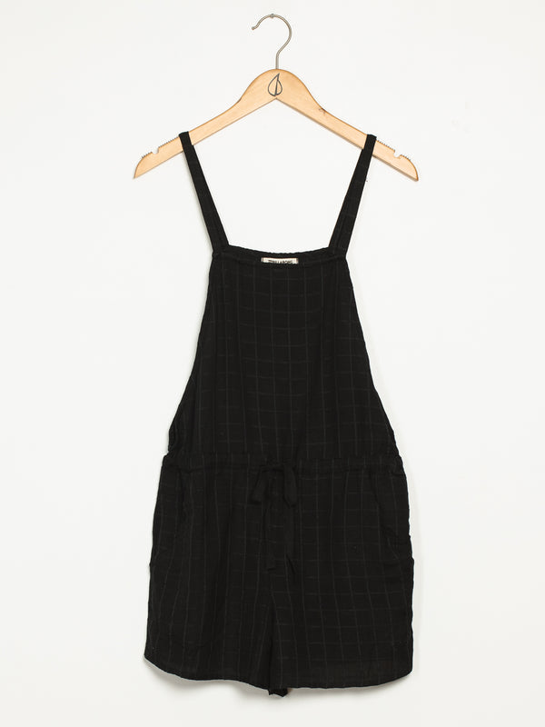WOMENS BERMUDA ROMPER - BLACK