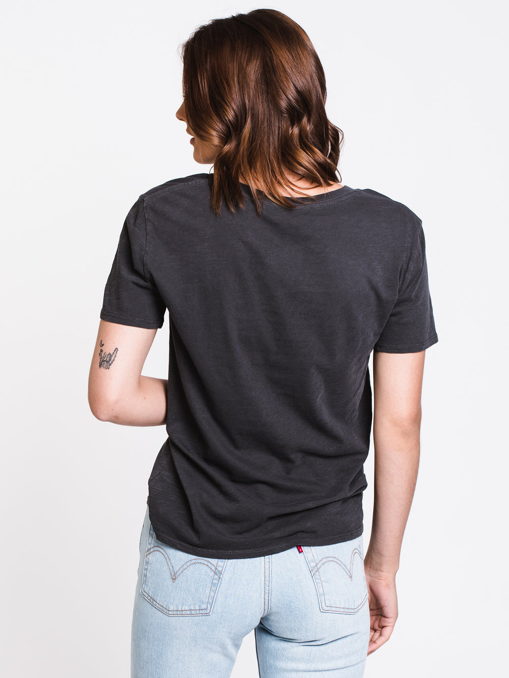 WOMENS STARDUST SHORT SLEEVE TEE - BLACK