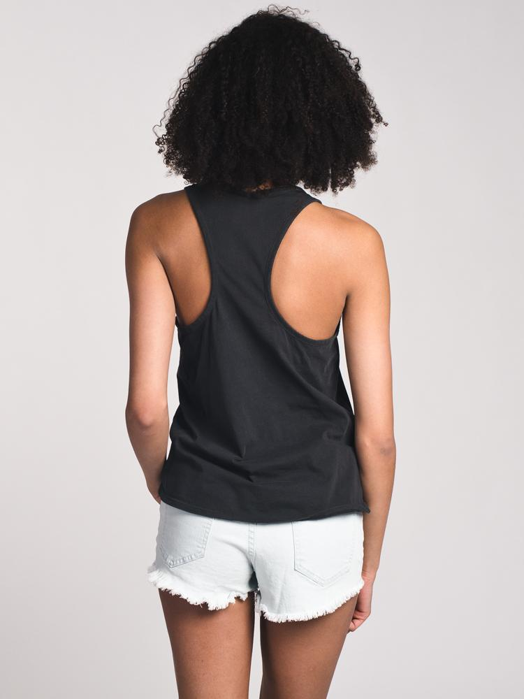 WOMENS PALM PARADISE TANK - BLACK- CLEARANCE
