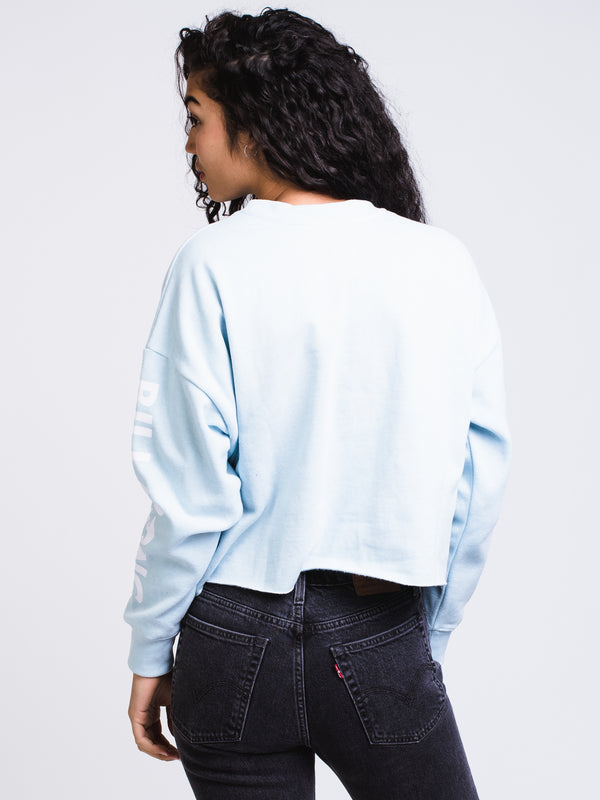 WOMENS COASTAL TIDES CROP CREWNECK