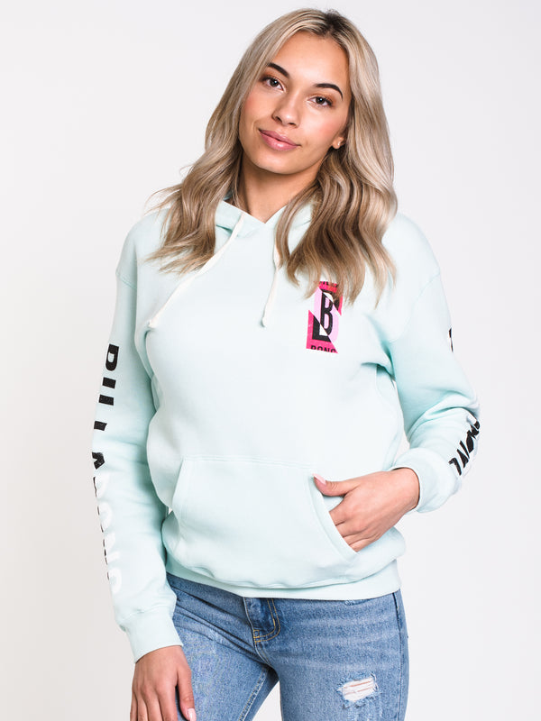 WOMENS RETRO LOGO Pullover HOODIE - MINT