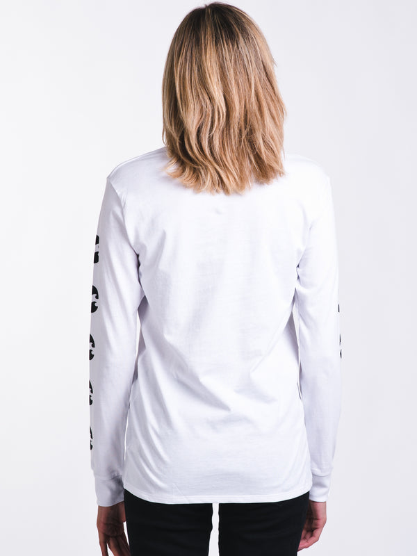 WOMENS SPIN OUT LONG SLEEVE T-SHIRTEE - WHITE