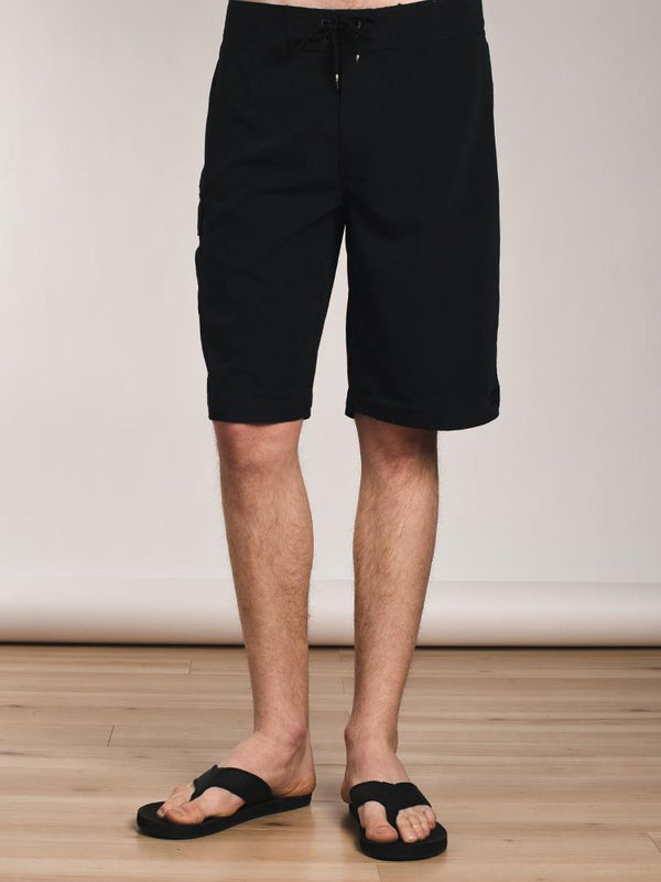 MENS ALL DAY SOLID B-SHORT - BLACK- CLEARANCE