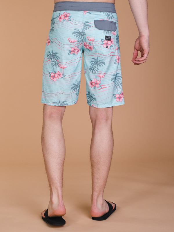 MENS FLAMINGO B-SHORT - FLORAL- CLEARANCE