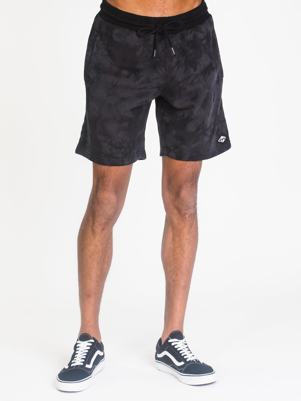 MENS WAVE WASHED FLC 19' SHORT-BLK
