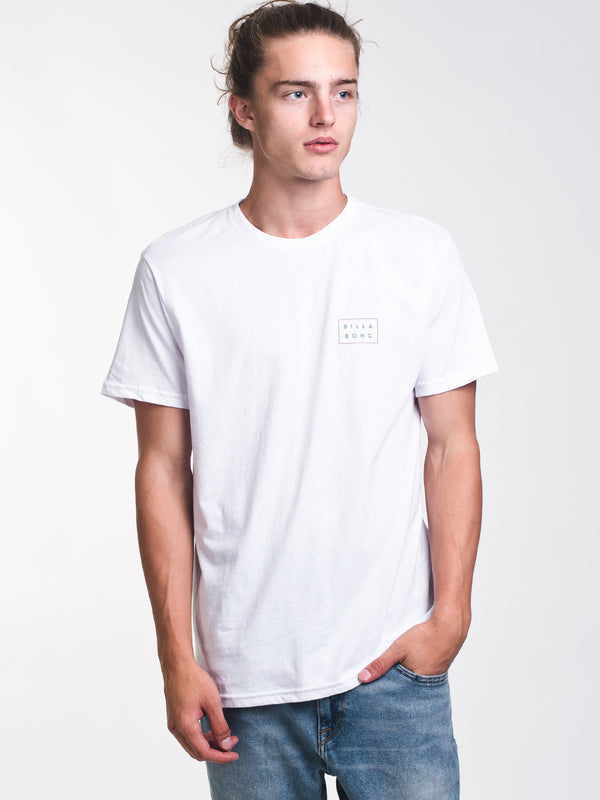 MENS DIE CUT SHORT SLEEVE T-SHIRT - WHITE