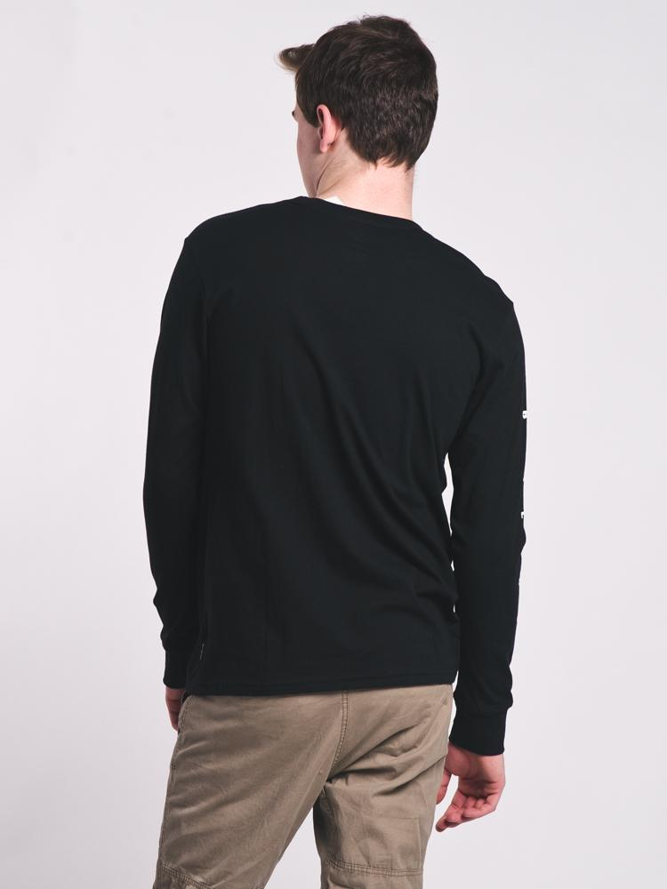 MENS ROTOR LONG SLEEVE T-SHIRT - BLACK- CLEARANCE