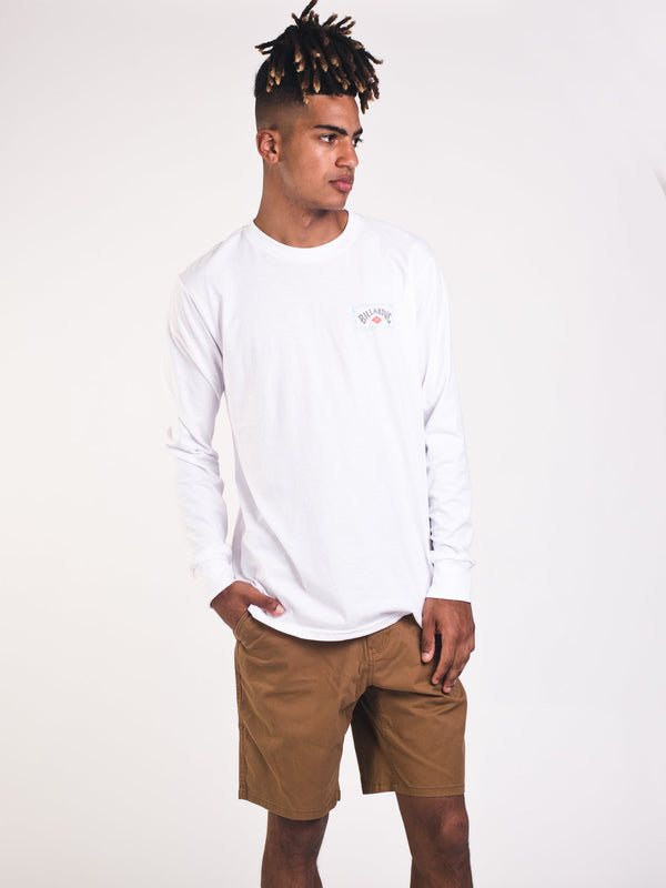 MENS DREAMSCAPE LONG SLEEVE T-SHIRT - WHITE