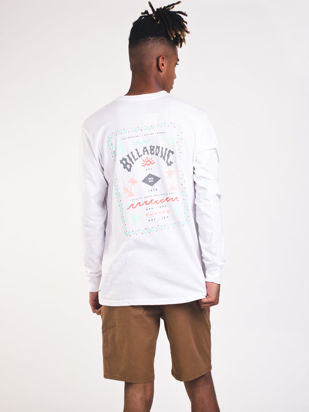 MENS DREAMSCAPE L/S T - WHITE