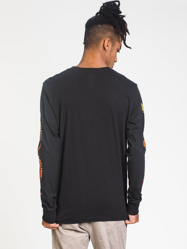 MENS ARCH LINK LONG SLEEVE T- BLACK