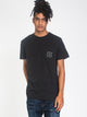 MENS STACKED FILL SHORT SLEEVE T-SHIRT- BLACK