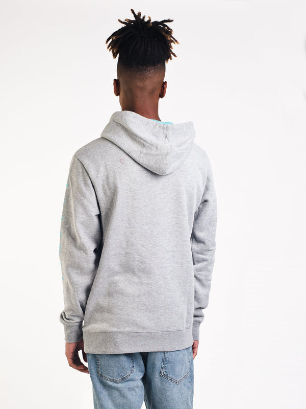 MENS TEAM WAVE PULLOVER HOODIE- GREY