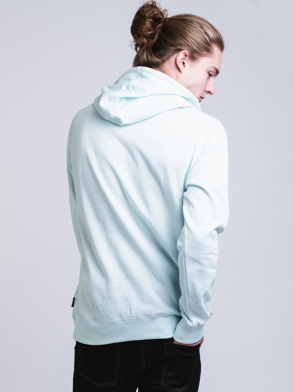 MENS STACKED Pullover HOOD - SKY