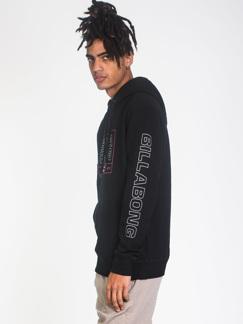 MENS ARMSTRONG PULLOVER HOODIE - BLACK
