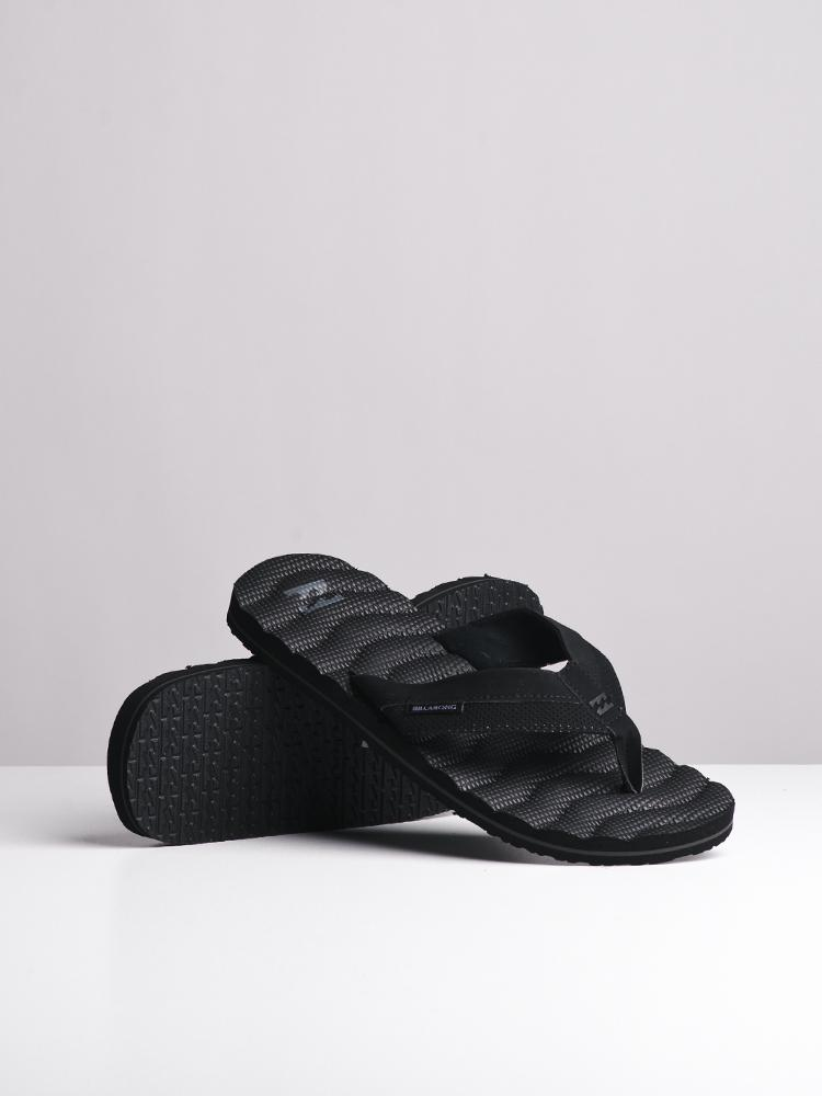 MENS DUNES BLACK SANDALS- CLEARANCE