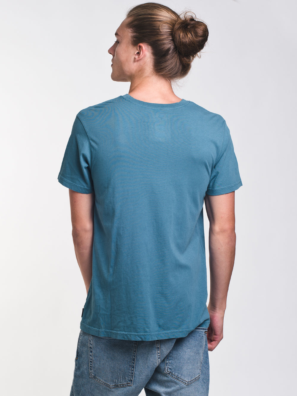 MENS ACCESS PINLINE SHORT SLEEVE T-SHIRT - BLUE