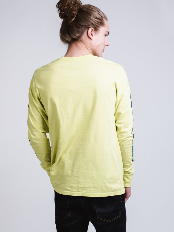 MENS KEYLINE LONG SLEEVE T-SHIRT - NEON YELLOW