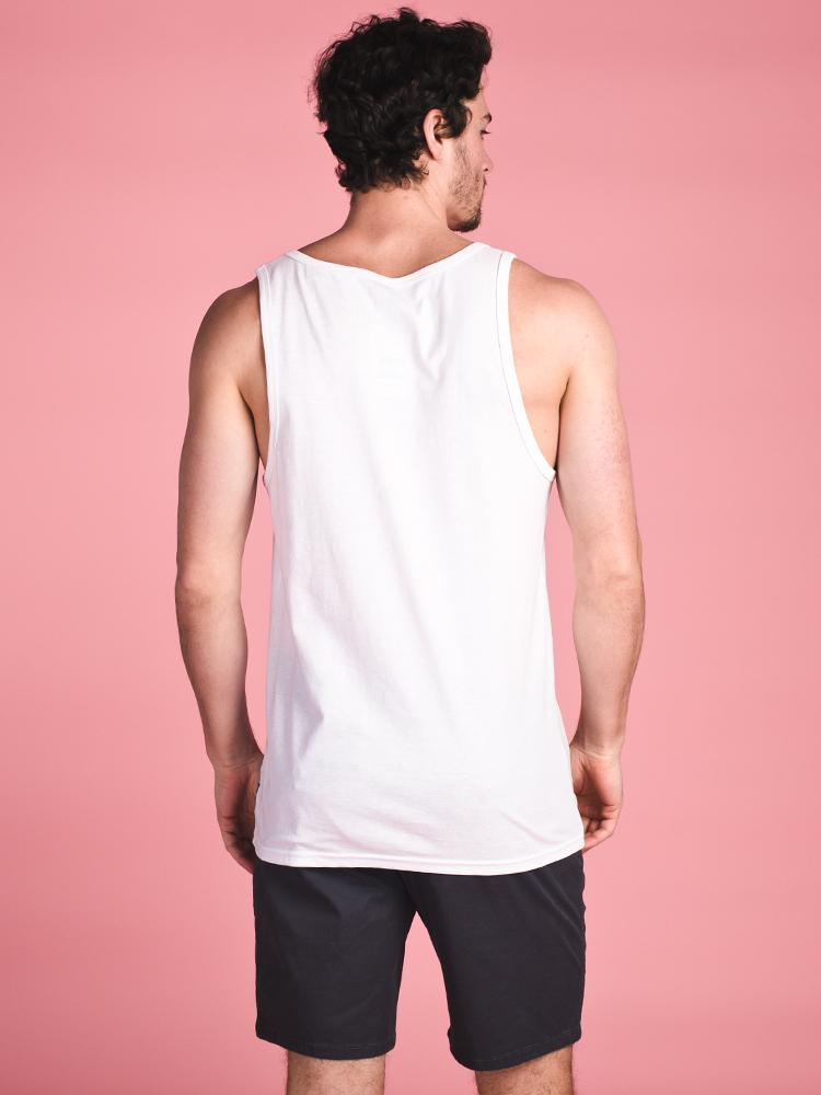 MENS ACCESS TANK - WHITE- CLEARANCE