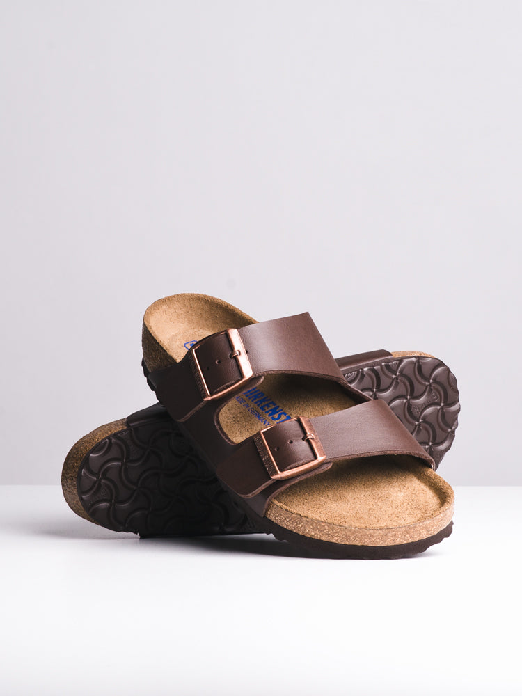 WOMENS ARIZONA SOFT DARK BROWN SANDALS