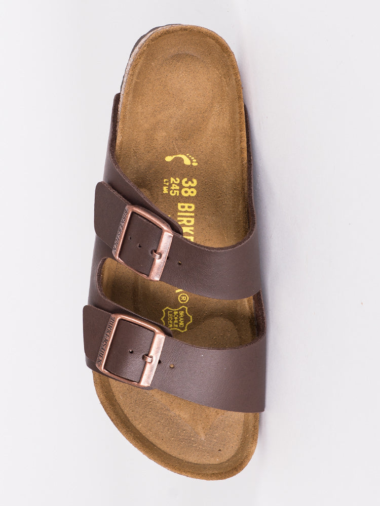 WOMENS ARIZONA DARK BROWN SANDALS