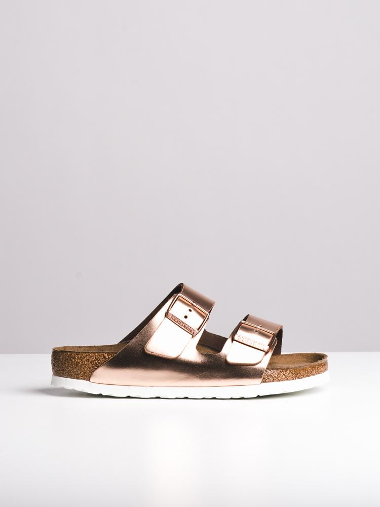 WOMENS ARIZONA SOFT METALLIC COPPER SANDALS- CLEARANCE