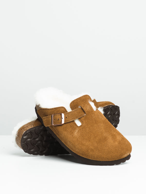 WOMENS BOSTON SHEARLING - MINK/NAT