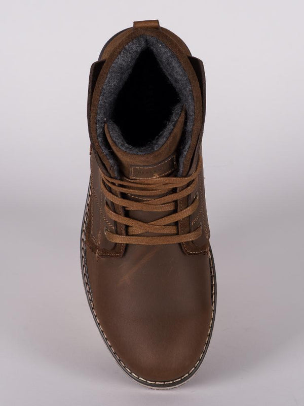 MENS WYATT LEATHER NUBUCK LACE UP BOOT  - CLEARANCE