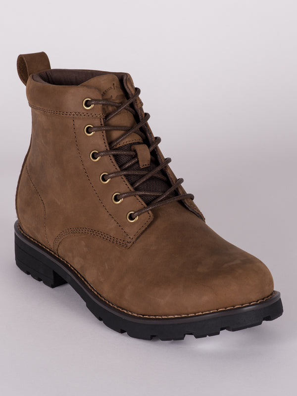 MENS HUGO LEATHER RUGGED LACE UP BOOT  - CLEARANCE