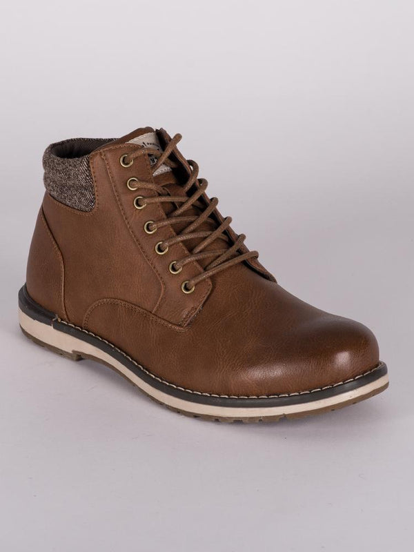 MENS KONRAD VEGAN LEATHER LACE UP BOOT  - CLEARANCE