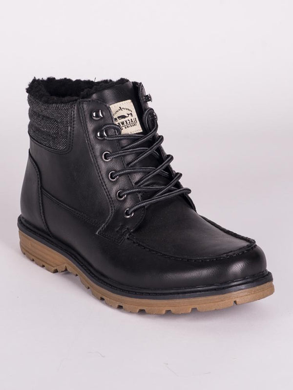 MENS LOGAN VEGAN LEATHER LACE UP BOOT  - CLEARANCE
