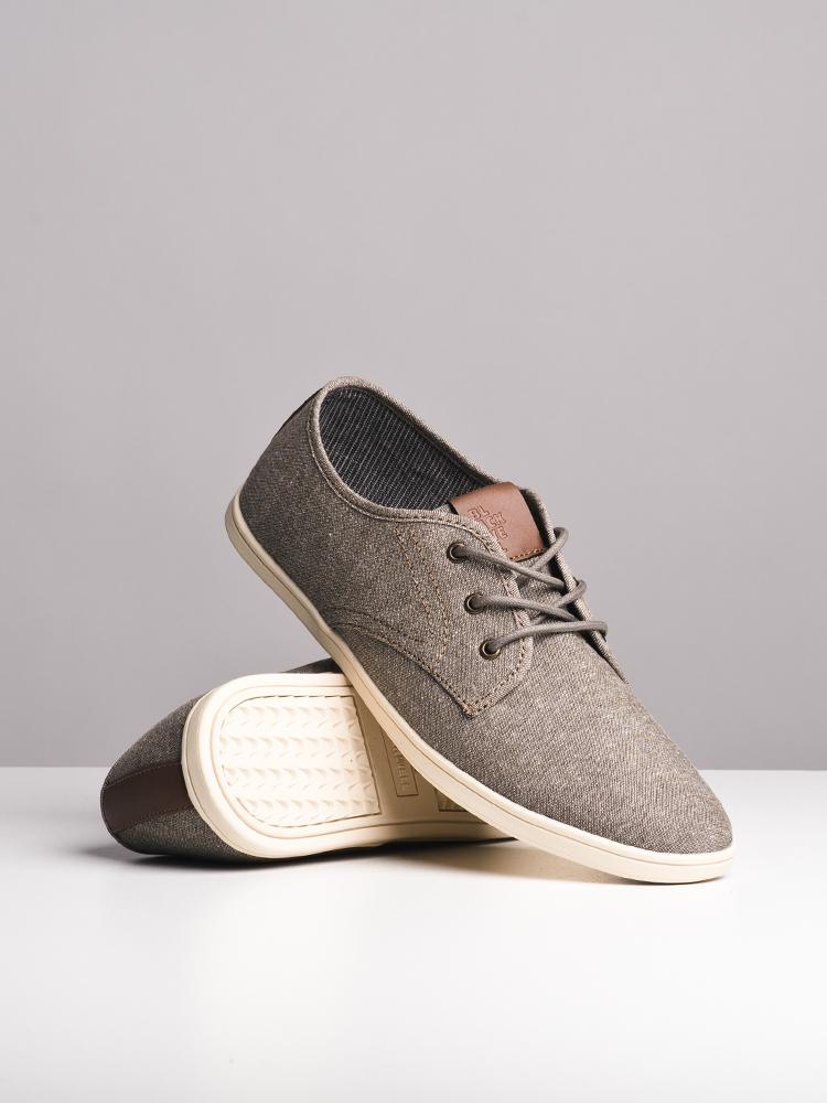 ccc48857504 MENS ISAAC BROWN CANVAS SHOES- CLEARANCE