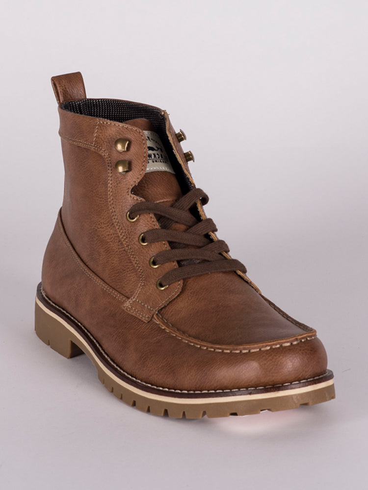 MENS EDDIE LEATHER LACE UP BOOT - CLEARANCE
