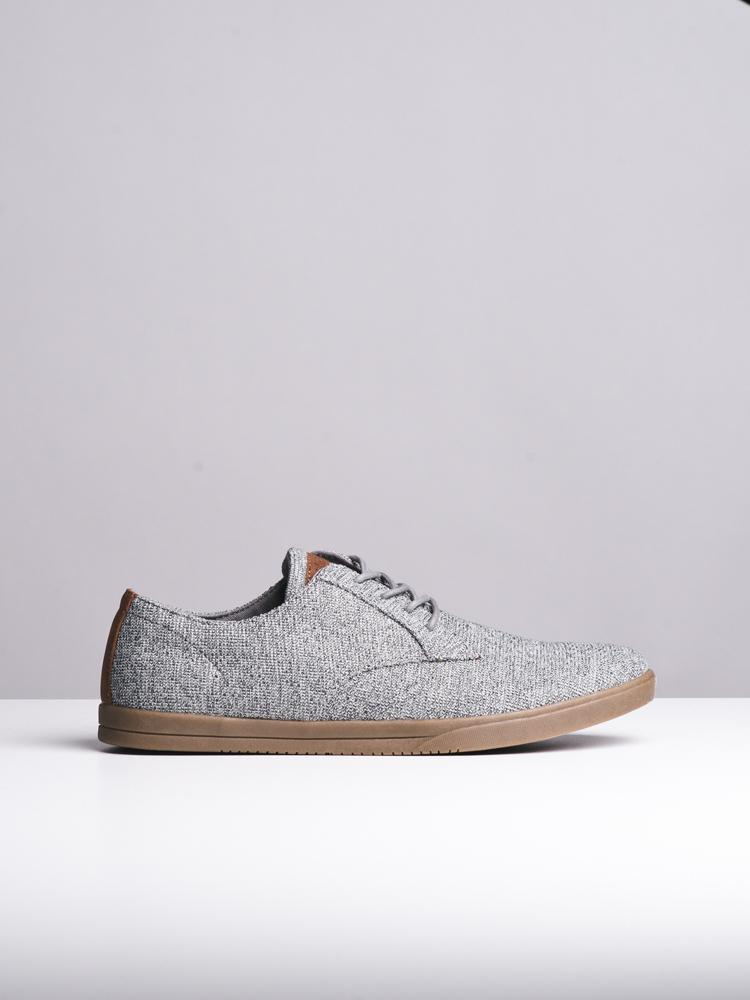 MENS REID GREY CANVAS SHOES- CLEARANCE