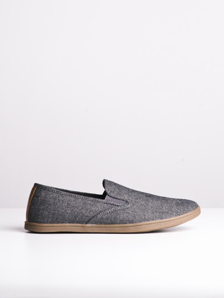 MENS CARSON GREY CANVAS SHOES- CLEARANCE
