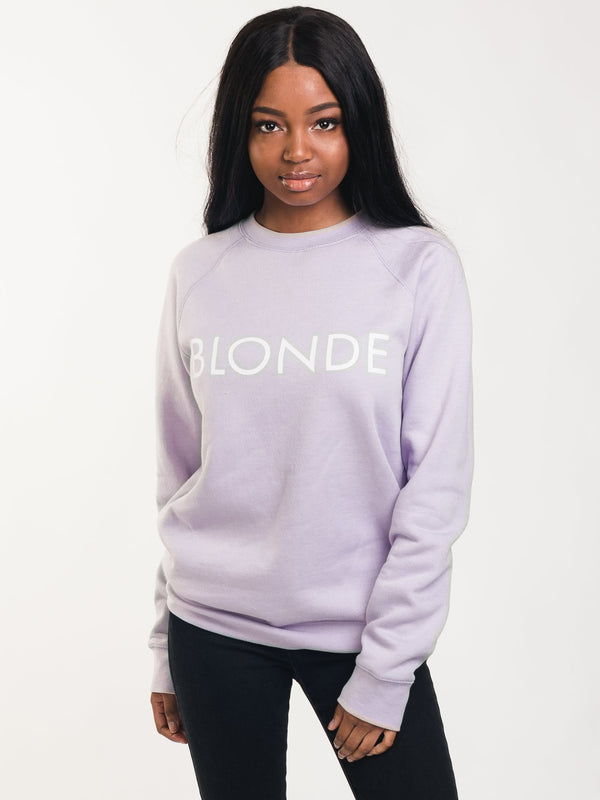 WOMENS BLONDE RAGLAN CREWNECK - LAV