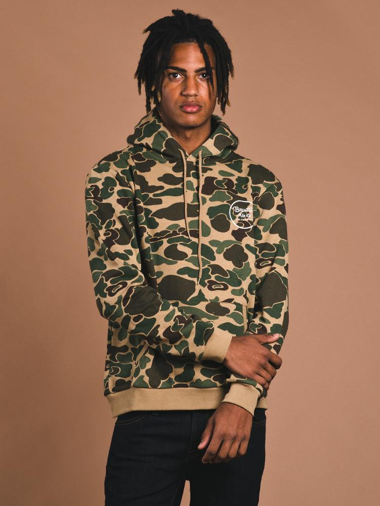 MENS WHEELER PULLOVER HOODIE - CAMO- CLEARANCE