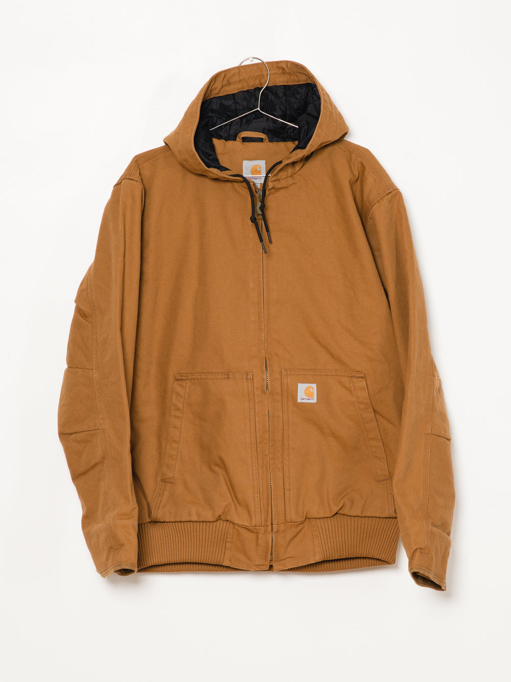 MENS WASHED DUCK INS JACKET - BROWN