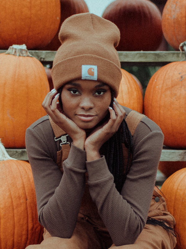 WATCH BEANIE - CARHARTT BROWN