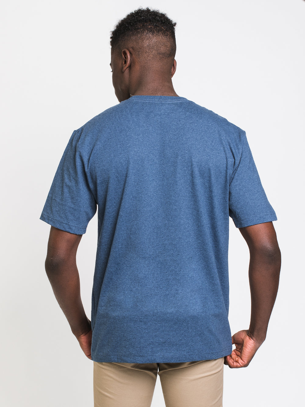 MENS WORKWEAR POCKET SHORT SLEEVE TEE - COBALT