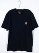 MENS WORKWEAR POCKET SHORT SLEEVE T-SHIRT - BLACK