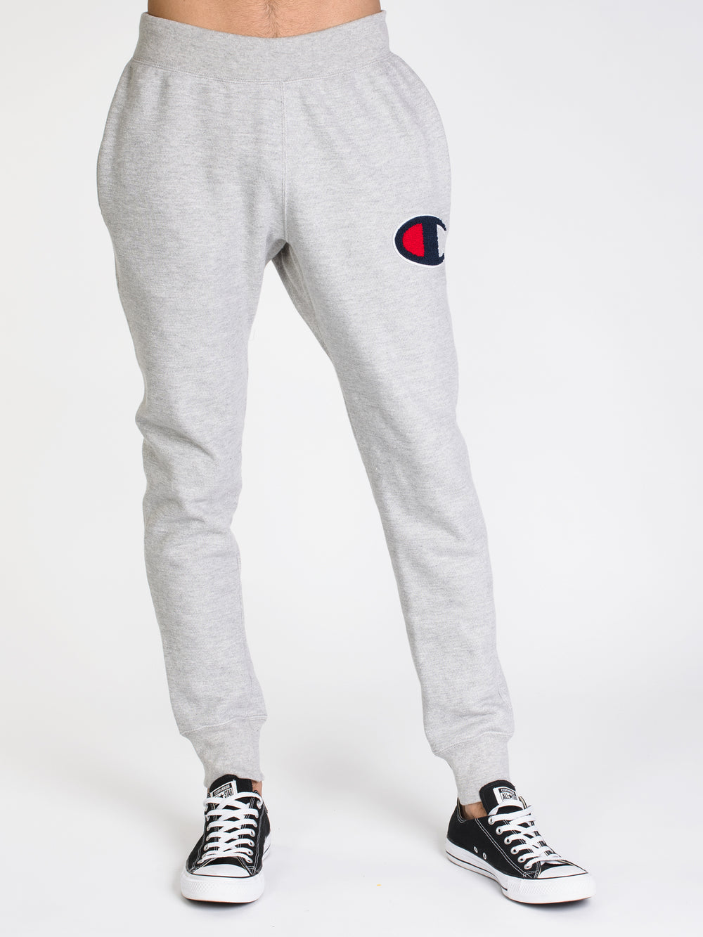 MENS REV WEAVE JOGGER PANT - GREY