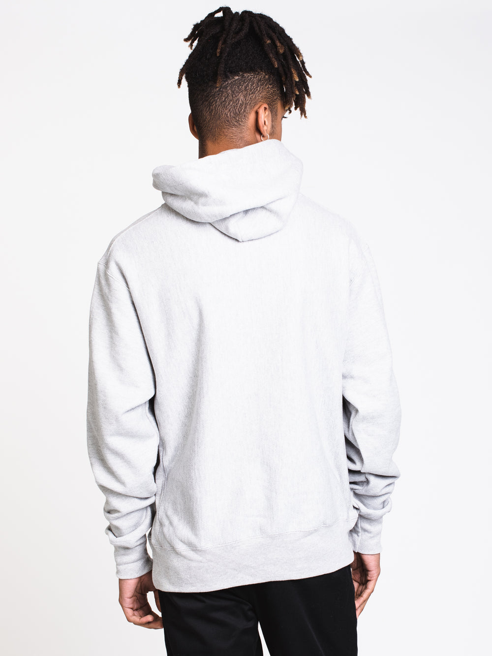 MENS REV PULL OVER CHENILLE HOODIE- GREY