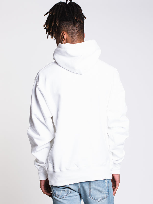 MENS REV WEAVE MESH/LEATHER PULLOVER - WHT
