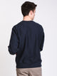 MENS REV WEAVE CREW - NAVY