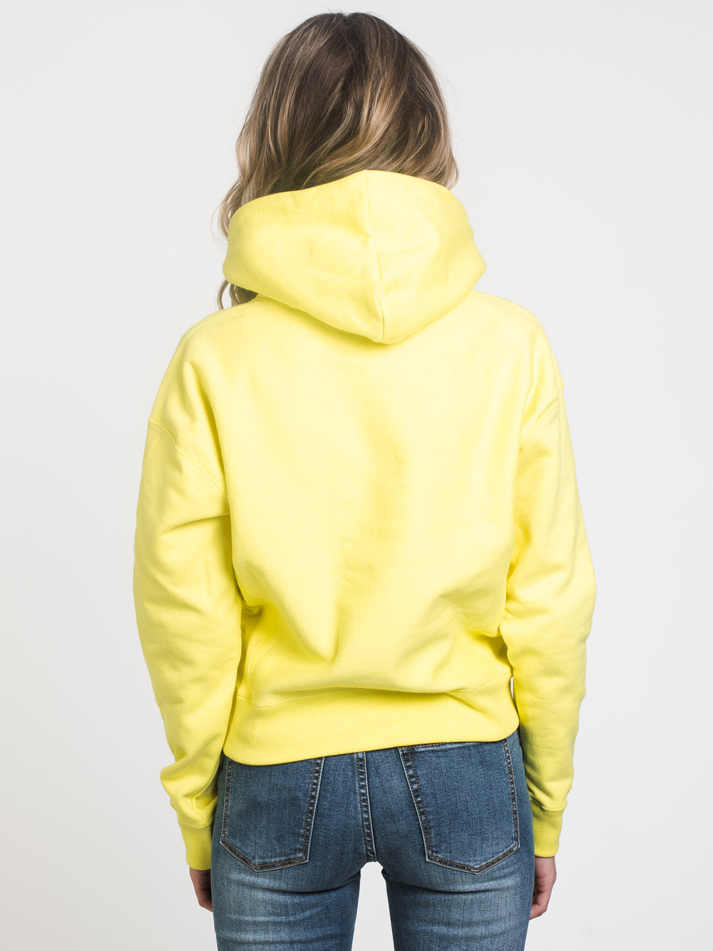 WOMENS REV WEAVE CHN PULLOVER HOODIE - YELLOW