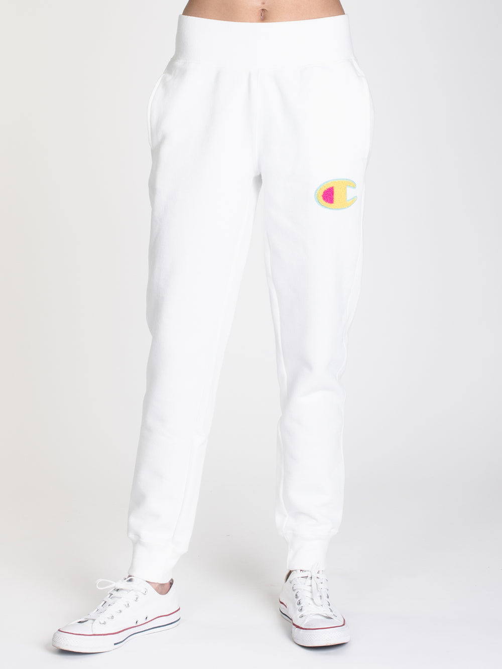 WOMENS REV WEAVE CHN JOGGER - WHITE